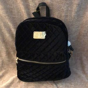 MARIA VELVET QUILTED LARGE BACKPACK